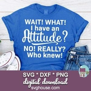 Wait What I Have An Attitude SVG