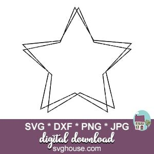 Star Monogram Frame Svg Files For Cricut And Silhouette