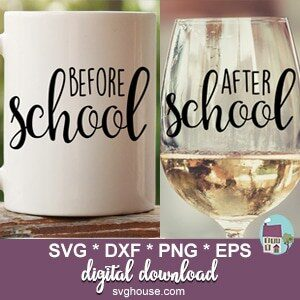 before school after school SVG