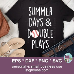 9612283e6caf Summer Days And Double Plays SVG - Baseball SVG File Instant ...