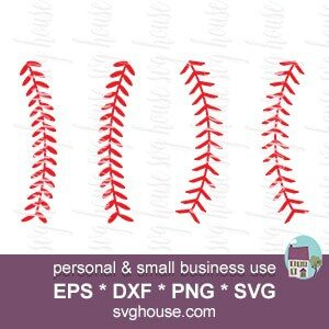 Baseball Stitches Svg