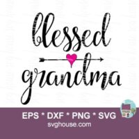 blessed grandma svg