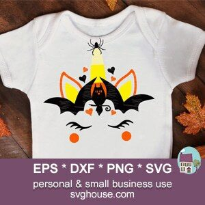 Candy Corn Unicorn Face SVG