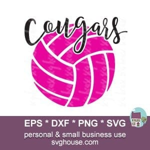 cougars volleyball dxf