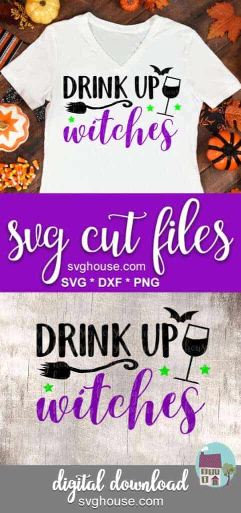 drink up witches svg for cricut