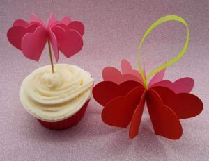 free heart cupcake topper template