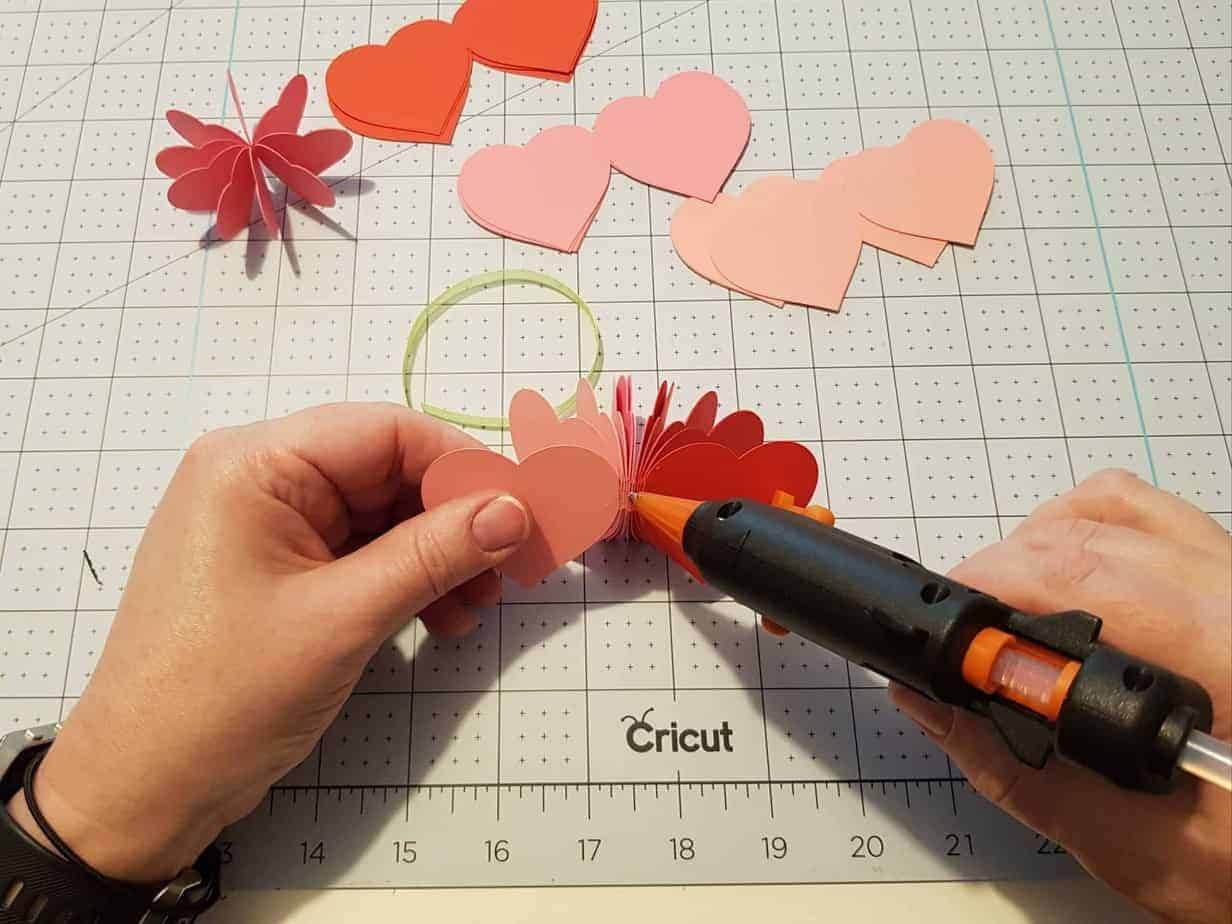 free 3d paper heart template