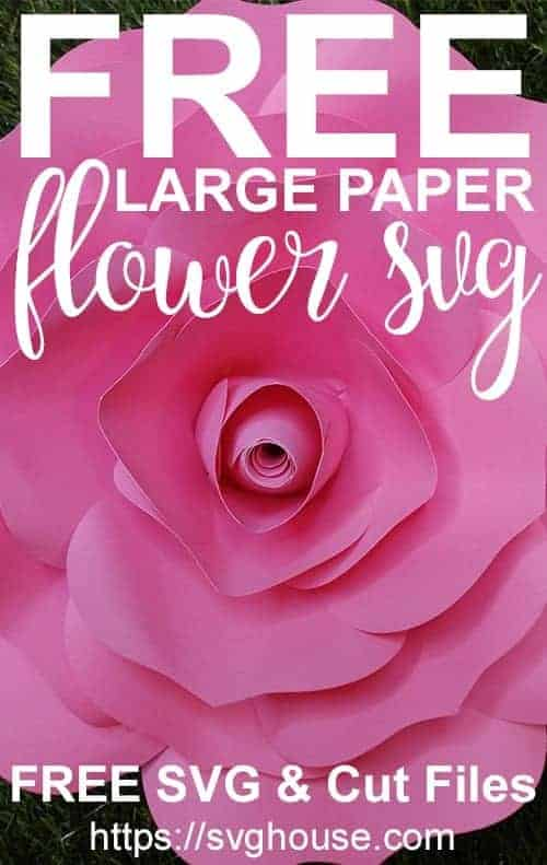 free large paper flower template