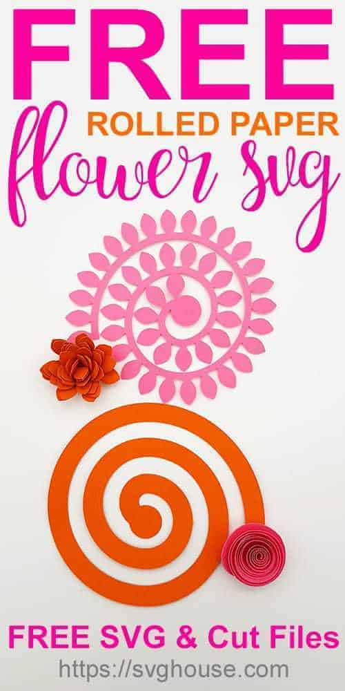 free rolled paper flower svg
