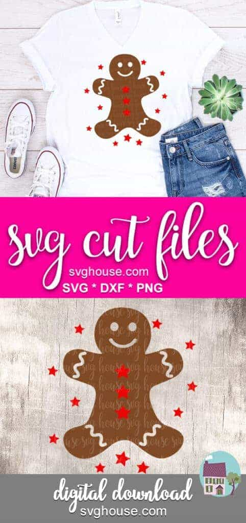 gingerbread man svg Cricut