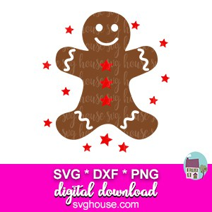 gingerbread man svg cut file