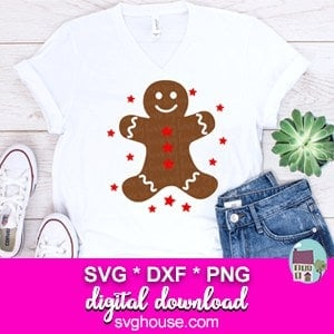 gingerbread man svg