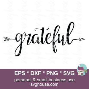 grateful arrow word svg