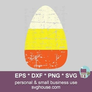 Grunge Candy Corn SVG
