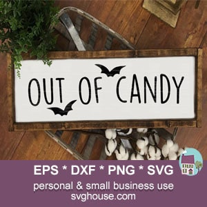 Out Of Candy SVG