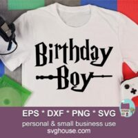 harry potter birthday boy svg file