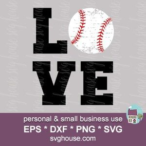 Love Baseball Svg Cut Files For Cricut And Silhouette