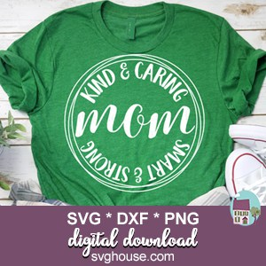 mom circle monogram svg