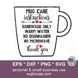 mug care instructions svg
