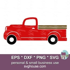red truck svg