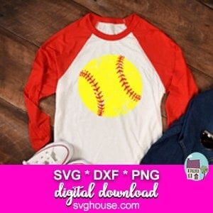 softball ball svg