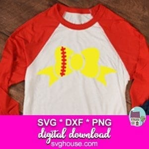 softball girl svg