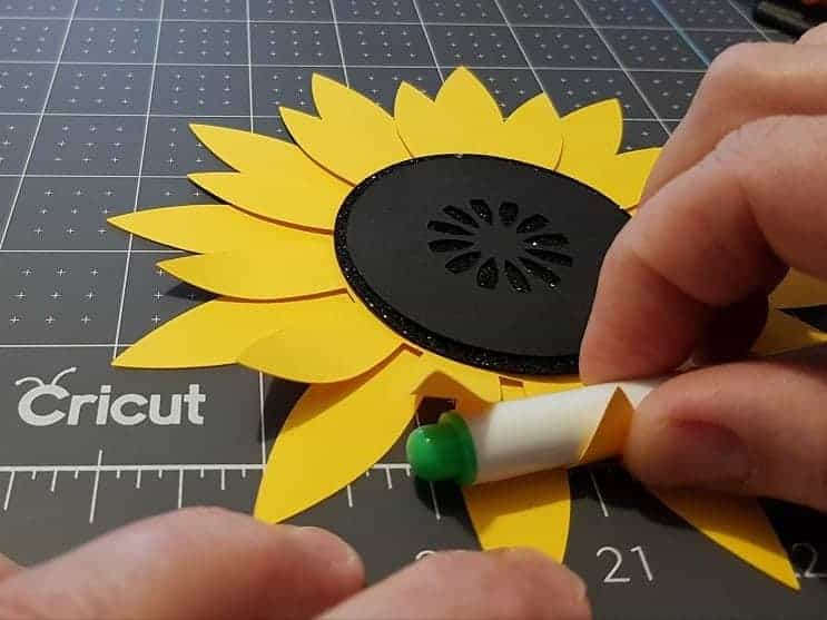 sunflower svg paper