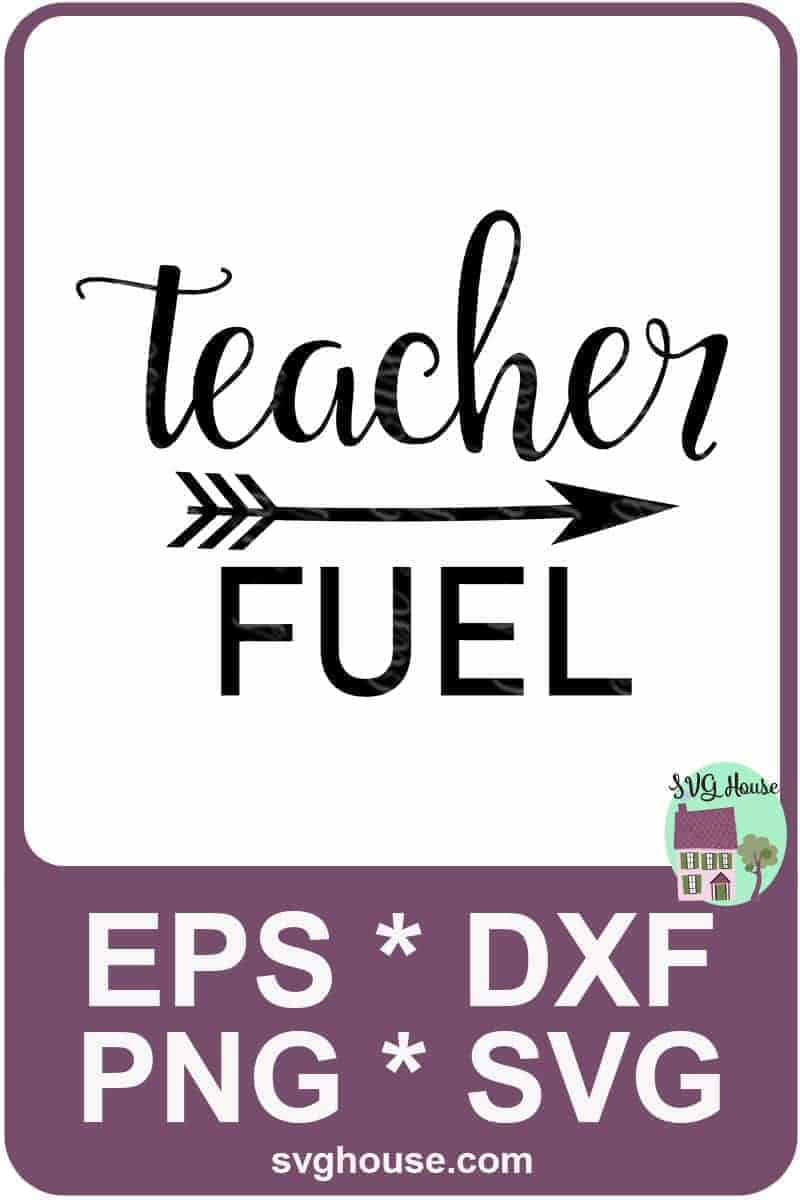 teacher fuel mug svg