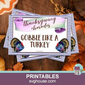 thanksgiving charades printable