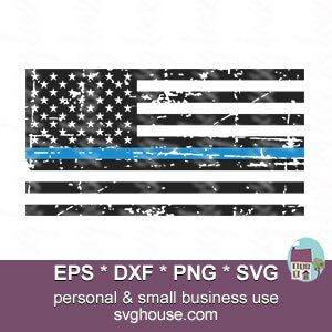 thin blue line svg