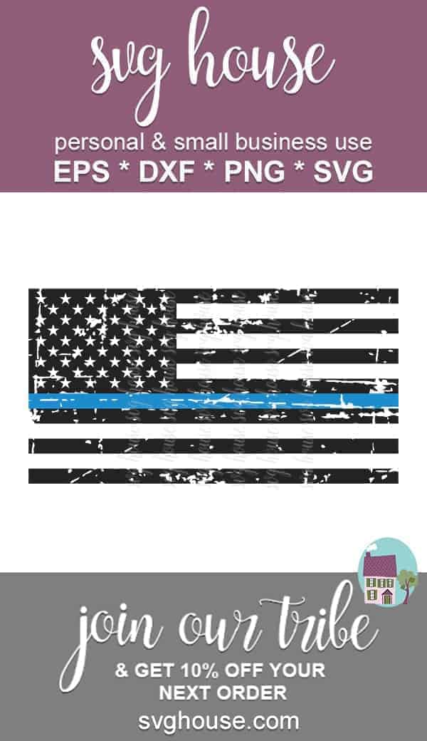 thin blue line svg file