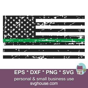 thin green line svg