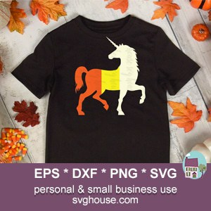 candycorn unicorn svg